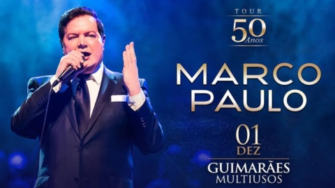 50 ANOS DE CARREIRA DE MARCO PAULO COMEMORADOS HOJE NO MULTIUSOS