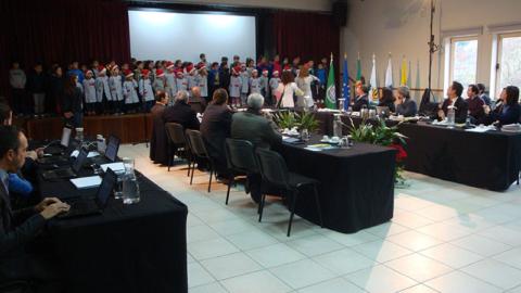 ACM APRESENTOU PROJETO DE BTT NA REUNIÃO DE CÂMARA