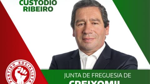 CUSTÓDIO RIBEIRO CANDIDATA-SE PELO PS À JUNTA DE FREGUESIA DE CREIXOMIL