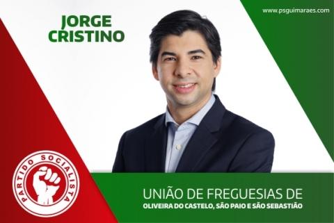 JORGE CRISTINO É O CANDIDATO DO PS À UNIÃO DE FREGUESIAS DE OLIVEIRA DO CASTELO, S. PAIO E S. SEBASTIÃO