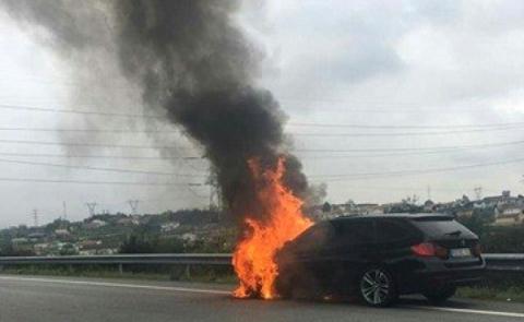 INCÊNDIO NA AUTO-ESTRADA A7
