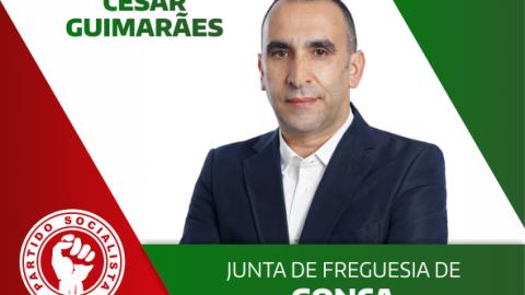 CÉSAR GUIMARÃES CANDIDATA-SE À JUNTA DE FREGUESIA DE  GONÇA