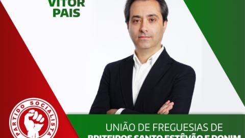 VÍTOR PAIS CANDIDATA-SE À UNIÃO DE FREGUESIAS DE BRITEIROS SANTO  ESTÊVÃO E DONIM