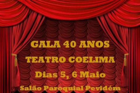GALA 40 ANOS DO TEATRO COELIMA REALIZA-SE ESTA SEXTA-FEIRA