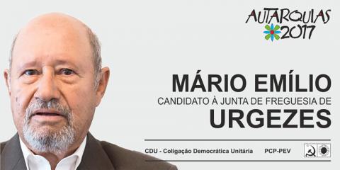 CANDIDATURA DA CDU À PRESIDÊNCIA DA JUNTA DE FREGUESIA DE URGESES