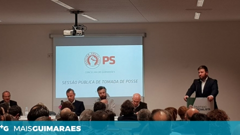 LUÍS SOARES TOMOU POSSE COMO NOVO PRESIDENTE DO PS DE GUIMARÃES
