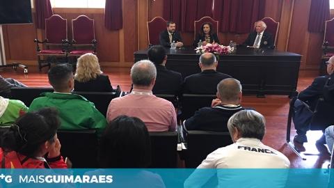 DELEGAÇÕES DO CAMPEONATO DO MUNDO DE GINÁSTICA AERÓBICA RECEBIDAS NA CÂMARA