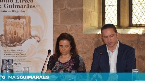 APRESENTAÇÃO DO PROGRAMA DO I FESTIVAL DE CANTO LÍRICO DE GUIMARÃES