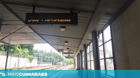 GREVE DOS COMBOIOS DE PORTUGAL AFETA GUIMARÃES