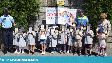 AÇÃO DE SENSIBILIZAÇÃO JUNTOU PSP E CRIANÇAS DO PRÉ-ESCOLAR