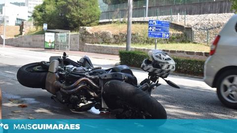MOTOCICLISTA DERRUBADO NA RUA EDUARDO MANUEL DE ALMEIDA