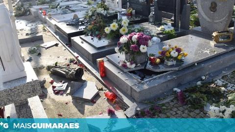 VÁRIAS CAMPAS DESTRUÍDAS NO CEMITÉRIO DE URGEZES