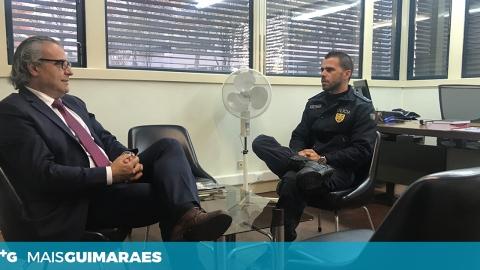 CASTRO ANTUNES REUNE COM SUBCOMISSÁRIO DA PSP DE GUIMARÃES