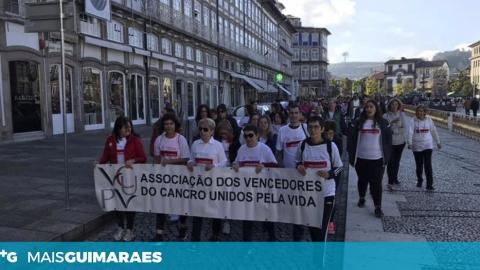 VIMARANENSES CAMINHARAM PELA VIDA CONTRA O CANCRO