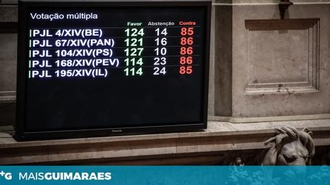 """EUTANÁSIA: QUATRO DOS CINCO DEPUTADOS VIMARANENSES DISSERAM """"SIM"""" À DESPENALIZAÇÃO"""