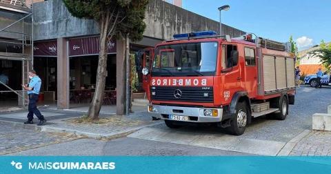 Creixomil: Bombeiros Voluntários de Guimarães combateram incêndio em apartamento